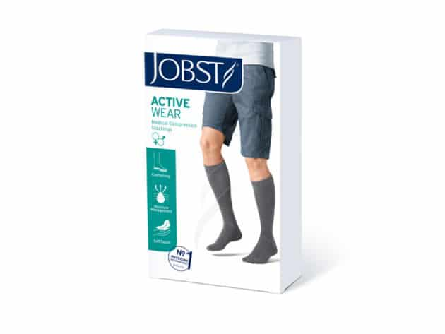Available in black or white Jobst Active socks are thick and comfortable