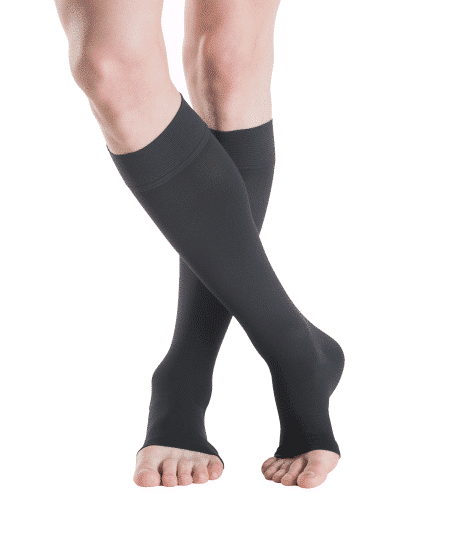 With open or closed toe Sigvaris cotton are comfortable to call all day