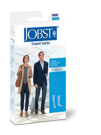 JOBST® Knee High Travel medical grade graduated compression socks for travel or everyday wear.