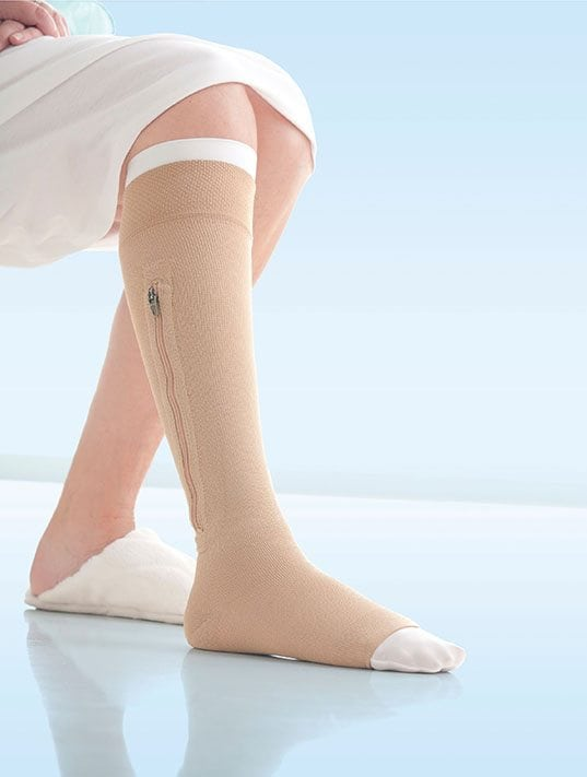 JOBST® UlcerCare Knee High Zipper Graduated Compression Socks