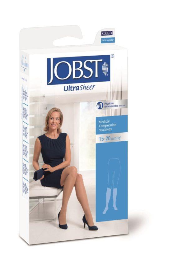 JOBST® Ultrasheer Knee High graduated compression socks for aching legs