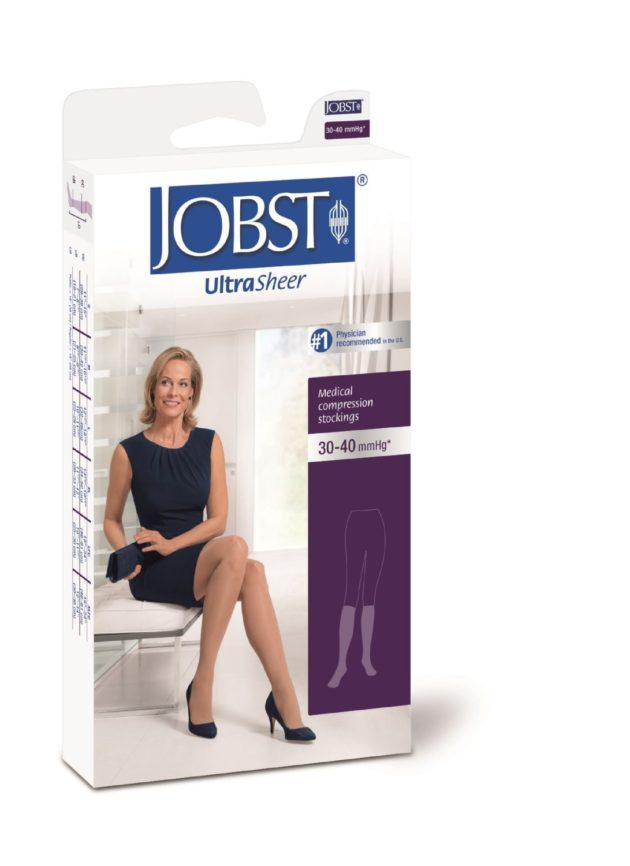 JOBST® Ultrasheer Knee High Medical Socks in firm compression ideal for lymphedema