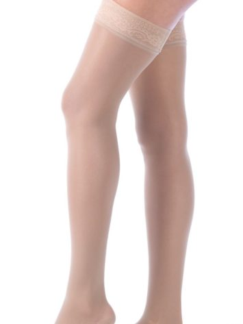 JOBST® Ultrasheer Thigh High WLace Band Compression Stockings