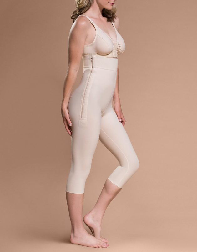 Marena Post-Surgery High Zippered Side - Capri Length Girdle (LGM)