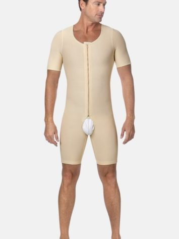 Marena Short Sleeve Male Post Op Bodysuit (MB-SS)