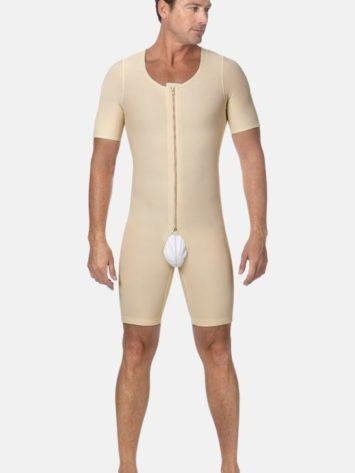 Marena Short Sleeve Male Post Op Bodysuit (MB-SS)