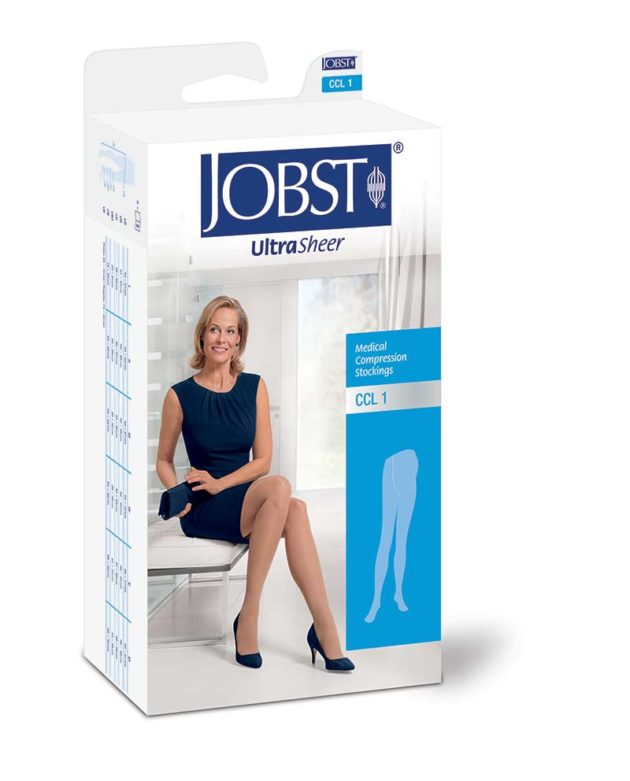 JOBST® Ultrasheer Maternity Pantyhose help reduce swelling and discomfort during pregnancy
