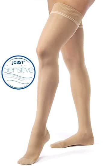 JOBST® UltraSheer Stockings with sensitive silicone band reduces discomfort and irritation