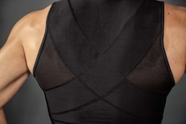 Leonisa Firm Men's Compression Vest Black back detail