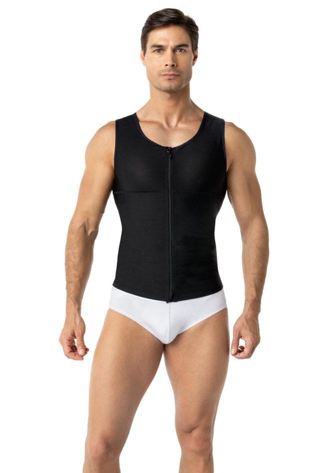 Leonisa Firm Men's Compression Vest Black Front