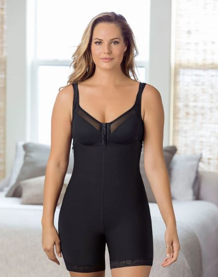 Leonisa Double Take Open Bust Firm Compression Post surgical Body Shaper front 2