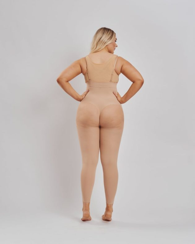 Leonisa Invisible full body shaper with shoulder straps in beige. Designed to shape your entire body
