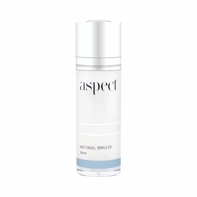 Aspect Retinol Brulee is a clinically powerful night serum that works to refine, exfoliate, firm, brighten, & protect your skin.