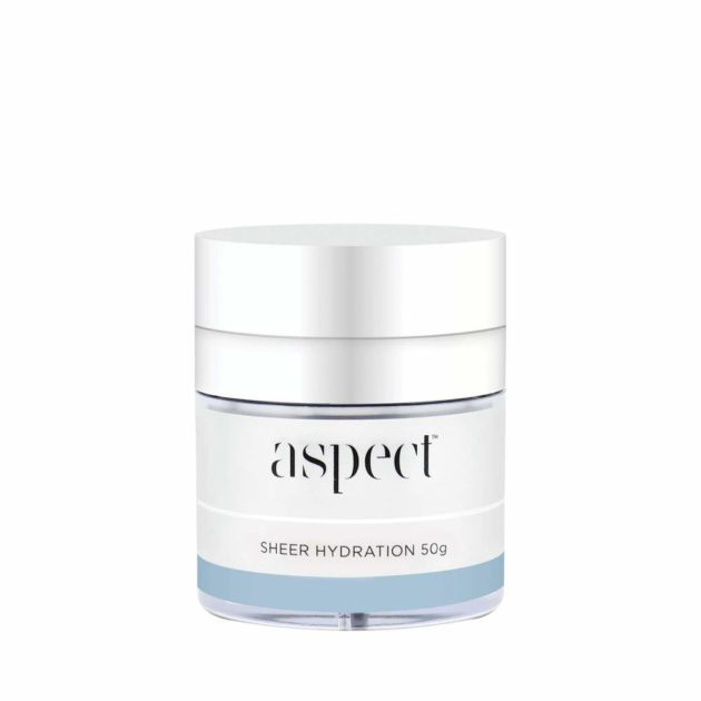 Aspect Sheer Hydration is Super hydrating, oil-free formula with Non-comedogenic Antioxidant benefits that helps reduce the appearance of fine lines and wrinkles.