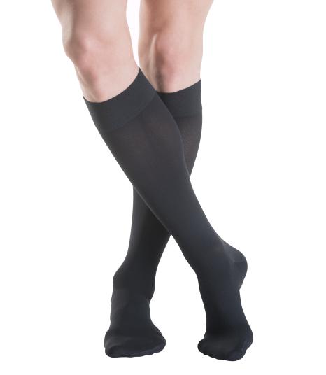 SBodyment Sigvaris Cotton Knee High Socks Black closed