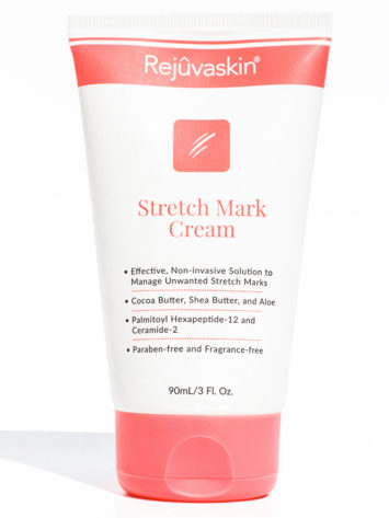 Rejuvaskin Stretch Mark Cream may help prevent scarring.