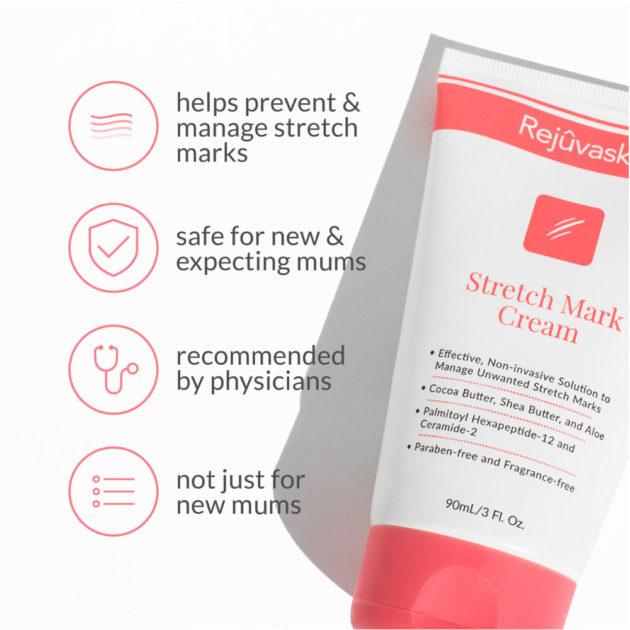 Hydrating cream to reduce stretch mark scars.