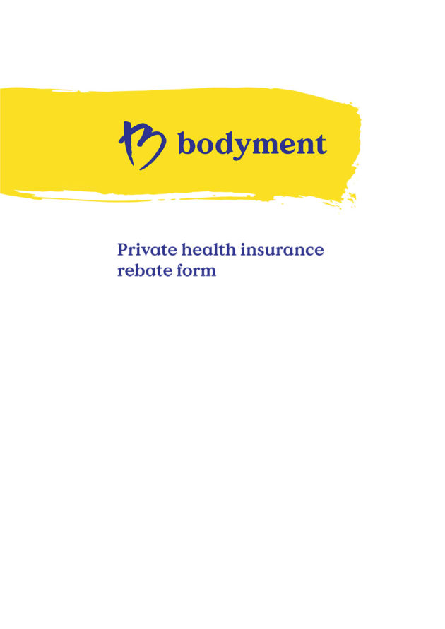 Private Health Medical Rebate Form Downloadable PDF Cover Page