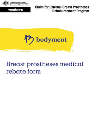 Download our breast prostheses medicare medical rebate form