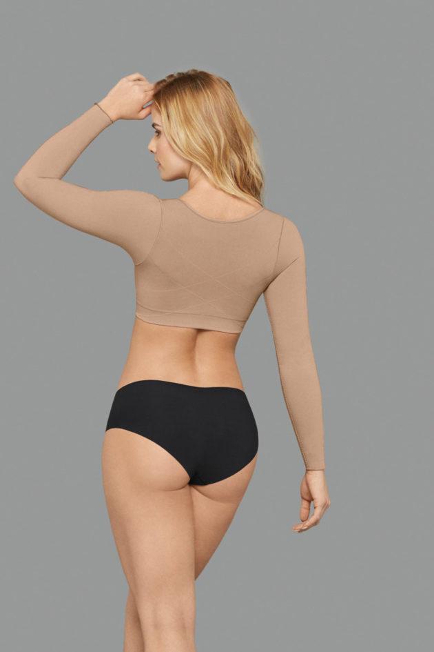 Leonisa Arm Shaper Compression Vest beige back