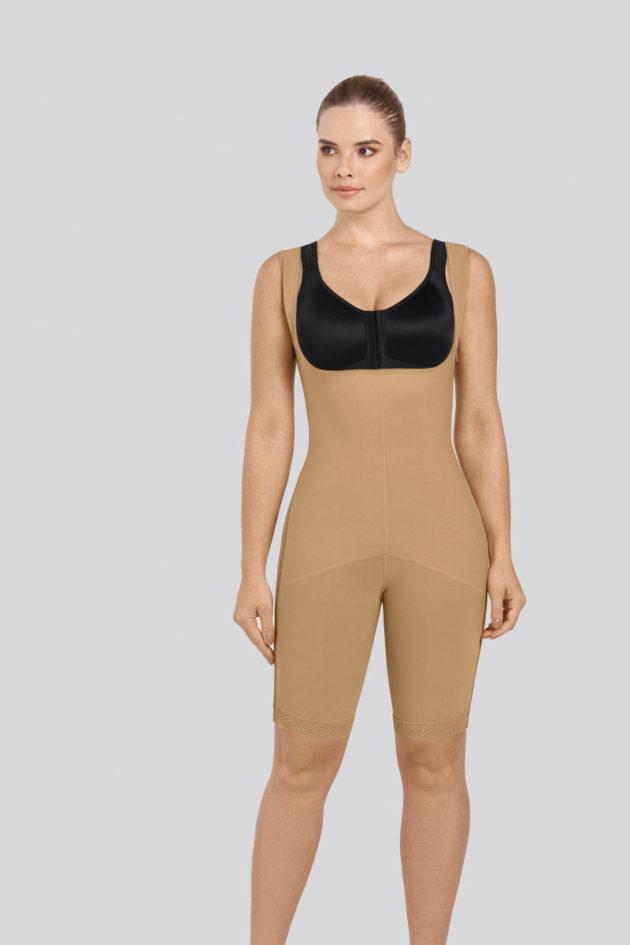 Leonisa Power Slim Body Shaper front with black bra
