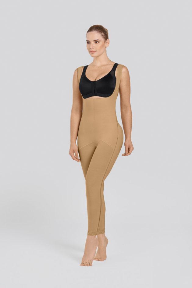 Leonisa Ankle Length Compression Bodysuit Beige side