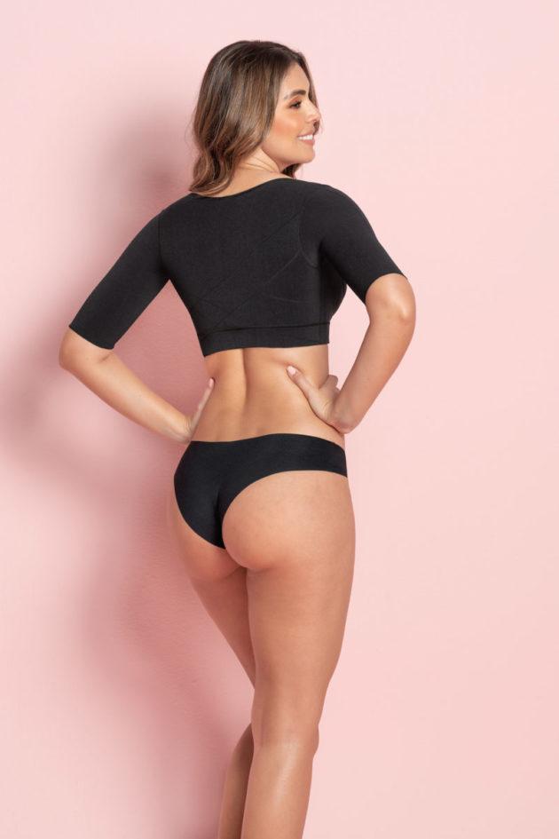 Leonisa Arm Shaper Compression Vest black back