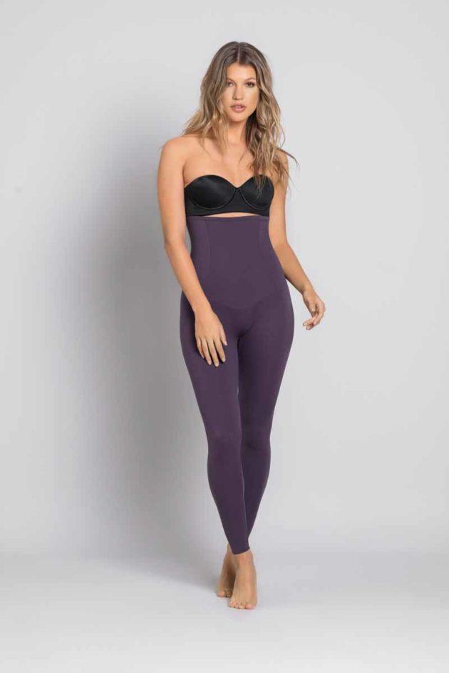 Leonisa Tummy Control High Waist Leggings Purple