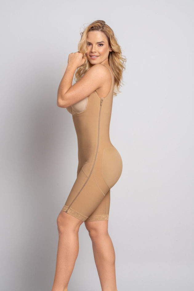 Leonisa Power Slim Body Shaper side beige detail