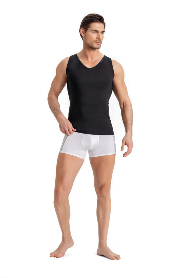 Leonisa Compression Singlet Black Front
