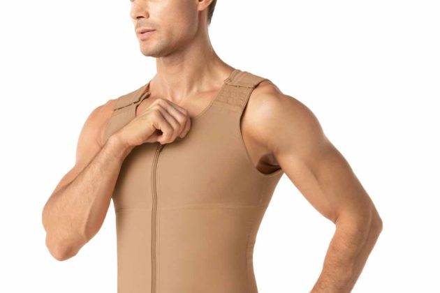 Leonisa Post Surgical Bodysuit Beige Front detail
