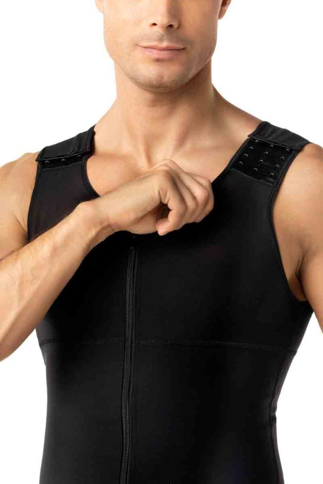 Leonisa Post Surgical Bodysuit Black Front detail