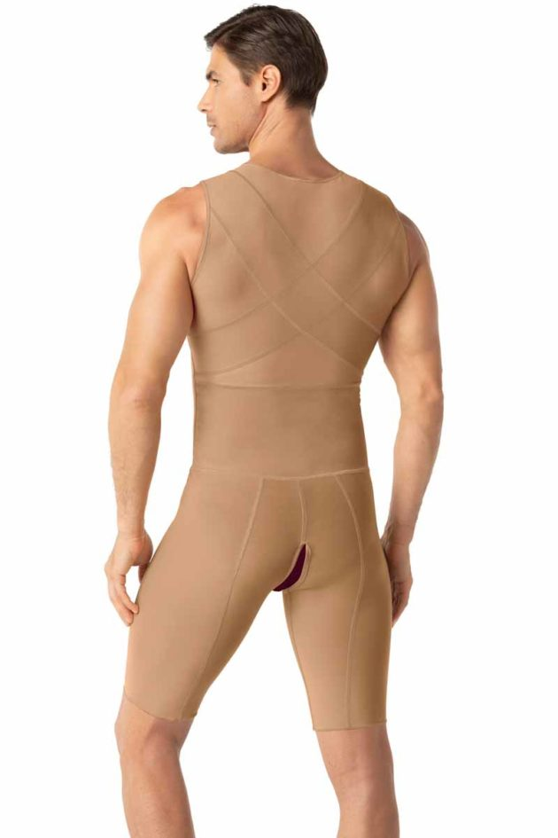 Leonisa Post Surgical Bodysuit Beige Back