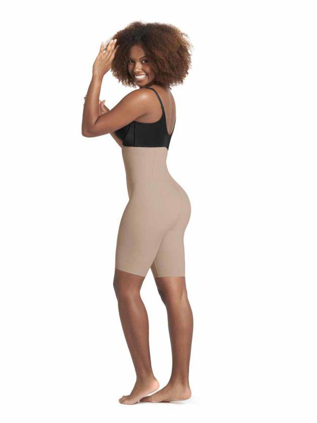 Leonisa High Waisted Shaper Shorts Side Beige
