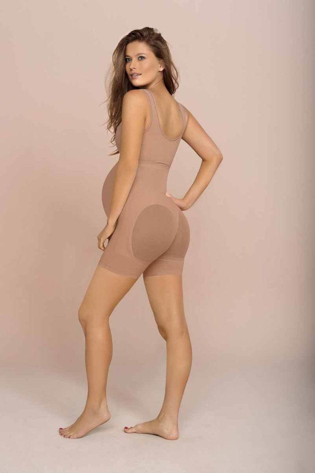 Leonisa Seamless Maternity High Waist Shorts side
