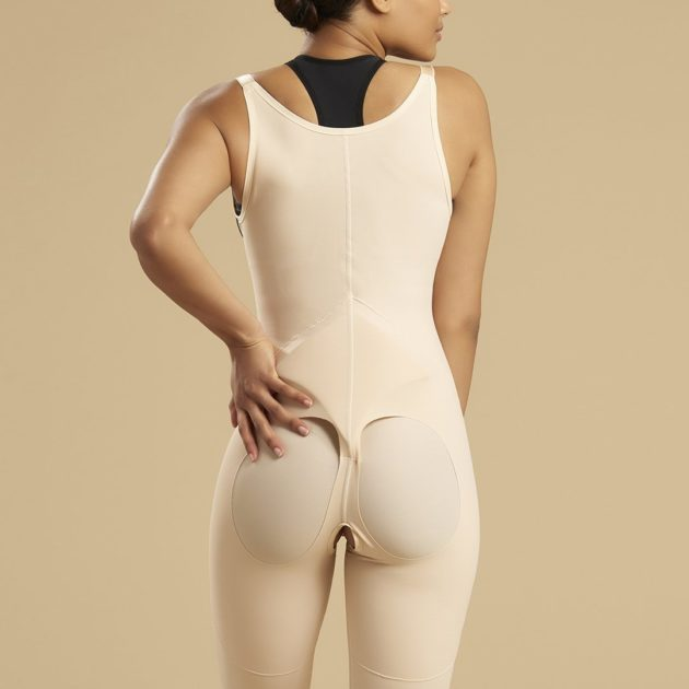 BBL bodysuit with sacral pads