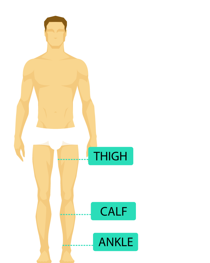 where to measure compression socks and stockings