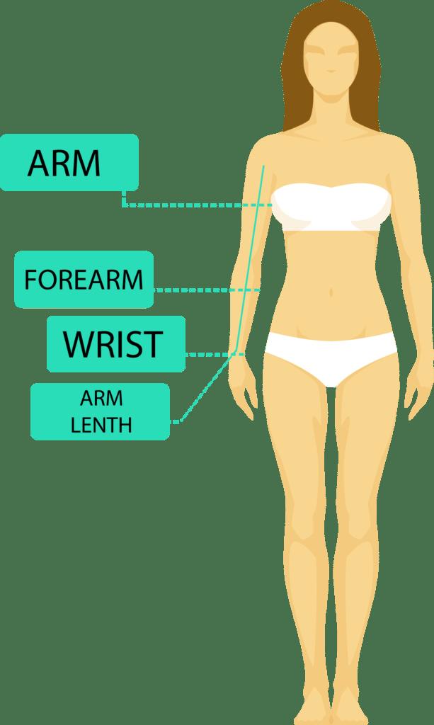 Where to take arm sleeve measurements