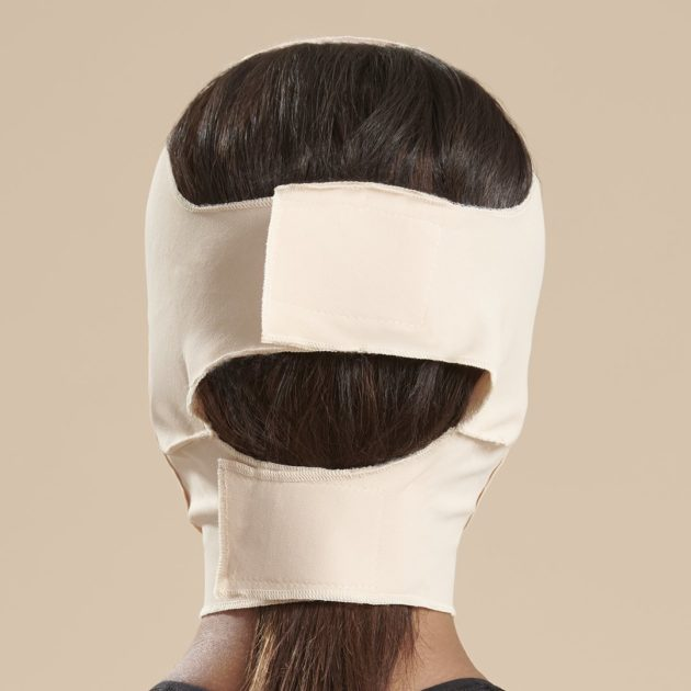 Longer neck face mask with velcro closure