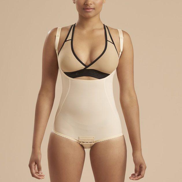 contouring seams to shape the torso